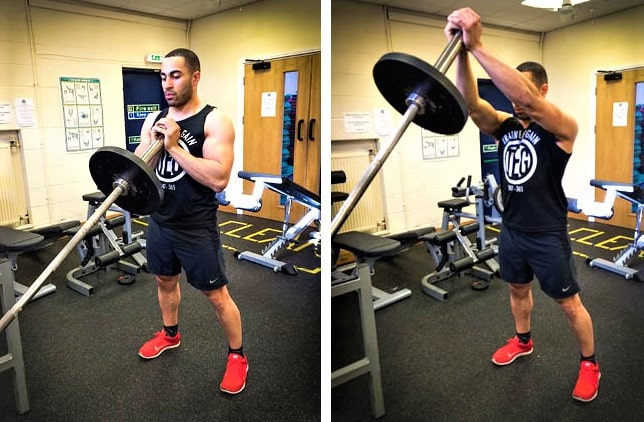 Landmine Chest Press With Both Hands