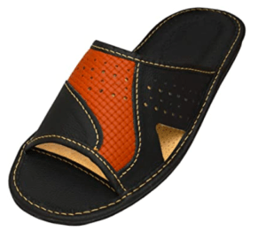 BeComfy Genuine Mens' Leather Slippers