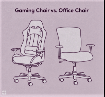 gaming chair vs. office chair